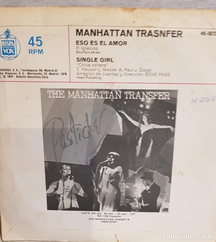Discos de vinilo: THE MANHATTAN TRANSFER / ESO ES EL AMOR / SG - ATLANTIC - 1978 / MBC. ***/*** - Foto 2 - 126344047