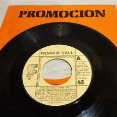 Discos de vinilo: FRANKIE VALLI / GREASE / SG - RSO / CARPETA PROMO ARIOLA - 1978 / MBC. ***/***. Lote 126347799