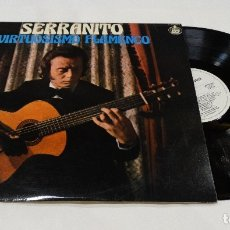 Discos de vinilo: SERRANITO VIRTUOSISMO FLAMENCO LP 1978, VICTOR MONGE. Lote 126344891