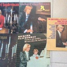 Discos de vinilo: LOTE 5LPS RICHARD CLAYDERMAN. Lote 126348795