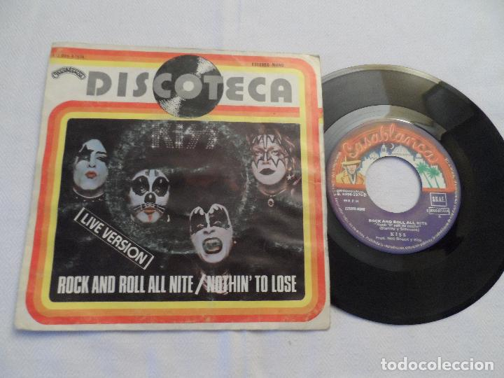KISS - ROCK AND ROLL ALL NITE / NOTHIN' TO LOSE (Música - Discos - Singles Vinilo - Heavy - Metal)