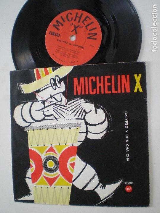 MICHELIN X - CALYPSO Y CHA CHA CHA - FLEXI SINGLE ITALIA MICROWATT 196? (Música - Discos de Vinilo - Maxi Singles - Orquestas)