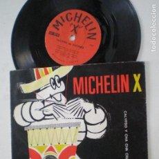 Discos de vinilo: MICHELIN X - CALYPSO Y CHA CHA CHA - FLEXI SINGLE ITALIA MICROWATT 196?. Lote 126369599