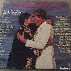 Discos de vinilo: SPÉCIAL DANSE. 64 SUCCÈS DE TOUJOURS POUR DANSER. CAJA CON 4 LPS.. Lote 126379815