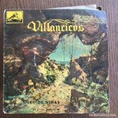 Discos de vinilo: CORO DE NIÑAS Y ORQUESTA - VILLANCICOS - EP LA VOZ DE SU AMO 1958 - VINILO ROJO. Lote 126381135