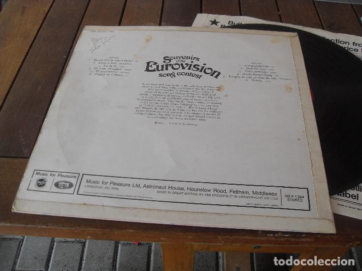Discos de vinilo: EUROVISION 1970 lp MADE IN GREAT BRITAIN 1970 souvenirs of the eurovision la la la + vivo cantando - Foto 3 - 126384307