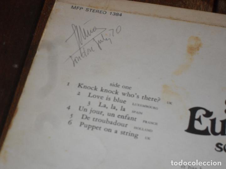 Discos de vinilo: EUROVISION 1970 lp MADE IN GREAT BRITAIN 1970 souvenirs of the eurovision la la la + vivo cantando - Foto 4 - 126384307