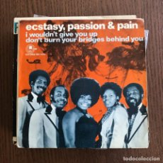 Discos de vinilo: ECSTASY, PASSION & PAIN - I WOULDN'T GIVE YOU UP - SINGLE CARNABY 1974. Lote 126385827