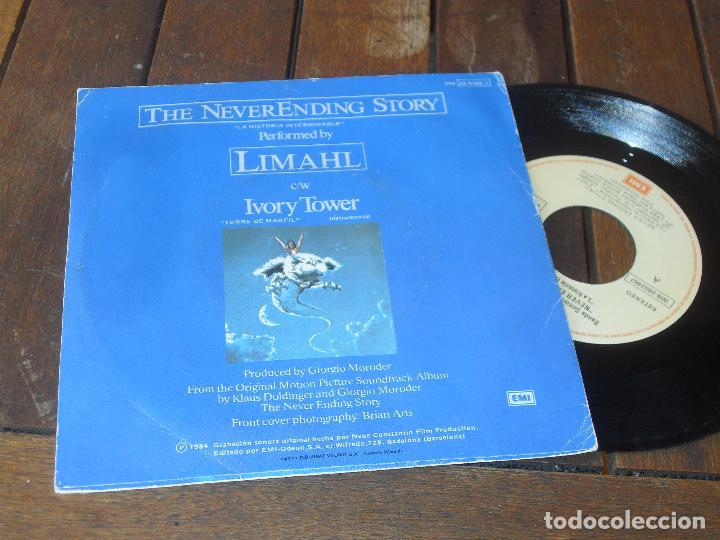 Discos de vinilo: LIMAHL SINGLE THE NEVERENDING STORY MADE IN SPAIN 1984 la historia interminable - Foto 2 - 126395295