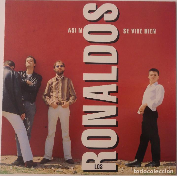 LOS RONALDOS..ASI NO SE VIVE BIEN.(EMI ?1992) SPAIN. PROMO. (Música - Discos de Vinilo - Maxi Singles - Grupos Españoles de los 70 y 80)
