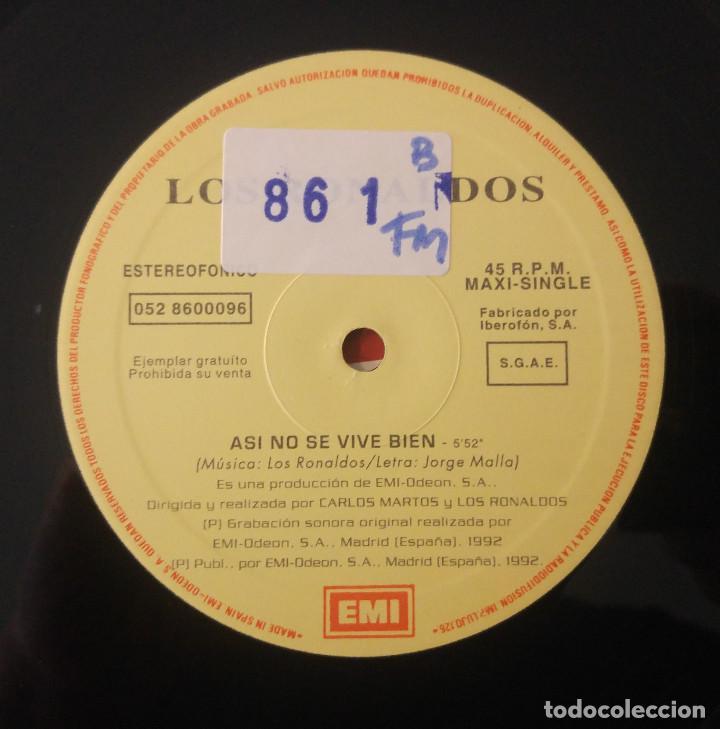 Discos de vinilo: Los Ronaldos..Asi No Se Vive Bien.(EMI ?1992) Spain. Promo. - Foto 4 - 126398659