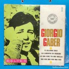 Discos de vinilo: GIORGIO GABER: E ALLORA DAI! + 3 . Lote 126399951