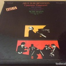 Discos de vinilo: ARTUR RUBINSTEIN. BRAHMS - SCHUMAN. CUARTETO GUARNERI CAJA 3 LPS RCA 1982.. Lote 126402967