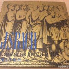 Discos de vinilo: J S. BACH. CANTATAS N. 78 Y 106. BELTER. LIBRO VINILO.. Lote 126405647