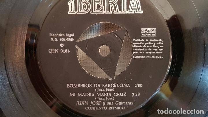 Discos de vinilo: JUAN JOSÉ Y SUS GUITARRAS / BOMBEROS DE BARCELONA / SOLO DISCO / EP-IBERIA-1966 / MBC. ***/*** - Foto 3 - 126408239