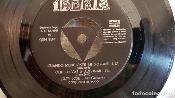 Discos de vinilo: JUAN JOSÉ Y SUS GUITARRAS / BOMBEROS DE BARCELONA / SOLO DISCO / EP-IBERIA-1966 / MBC. ***/*** - Foto 4 - 126408239