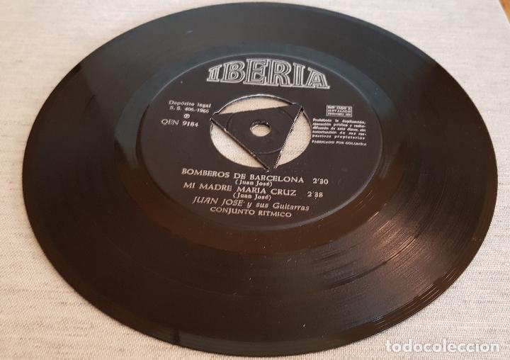 Discos de vinilo: JUAN JOSÉ Y SUS GUITARRAS / BOMBEROS DE BARCELONA / SOLO DISCO / EP-IBERIA-1966 / MBC. ***/*** - Foto 6 - 126408239