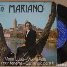 Discos de vinilo: MARIANO - VIVO POR TENERTE - EP PROMOCIONAL 1975 - BCD . Lote 126421151