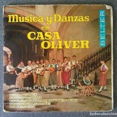 Discos de vinilo: SINGLE MUSICAS Y DANZAS EN CASA OLIVER. Lote 126424947