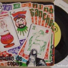 Discos de vinilo: NINO SANCHEZ - EL CABALLO DE COPAS - SINGLE 1976 CON INSERTO - NINOS. Lote 126426263