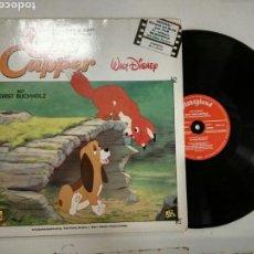 Discos de vinilo: CAP UND CAPPER - NEUAUSGABE - WALT DISNEY DISCO LIBRO EN ALEMAN. Lote 126434471