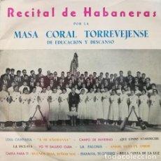 Discos de vinilo: MASA CORAL TORREVEJENSE DE EDUCACION Y DESCANSO - RECITAL DE HABANERAS - LP DE VINILO DE 1964. Lote 194544677