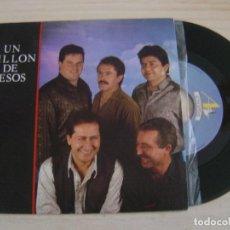 Discos de vinilo: UN MILLON DE BESOS - UN MILLON DE BESOS + SOLO TU - SINGLE PROMOCIONAL 1990 - A ESCENA. Lote 126491495