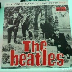Discos de vinilo: THE BEATLES - BOYS + CHAINS + LOVE ME DO + BABY IT´S YOU - ODEON. Lote 126491991