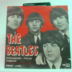 Discos de vinilo: THE BEATLES - STRAWBERRY FIELDS FOREVER - PENNY LANE - ODEON. Lote 126492859