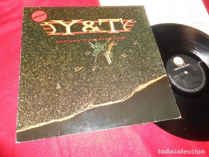 Y&T CONTAGIOUS LP 1987 GEFFEN RECORDS GERMANY (Música - Discos - LP Vinilo - Heavy - Metal)
