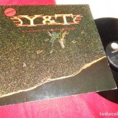Discos de vinilo: Y&T CONTAGIOUS LP 1987 GEFFEN RECORDS GERMANY. Lote 126509163