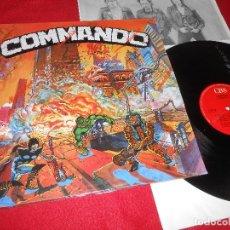 Discos de vinilo: COMMANDO 9MM COMMANDO LP 1990 CBS PUNK NACIONAL MUY RARO! COMO NUEVO. Lote 199423210