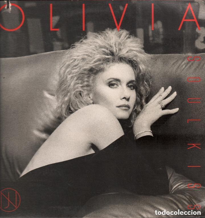 OLIVIA NEWTON - JOHN  SOUL KISS LP MCA RECORDS DE 1985 RF-4513 , DOBLE  PORTADA