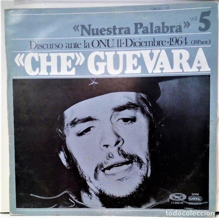 CHE GUEVARA - DISCURSO ANTE LA ONU 1º PARTE - LP - ED ESPAÑOLA 1977 (Música - Discos de Vinilo - EPs - Otros estilos)