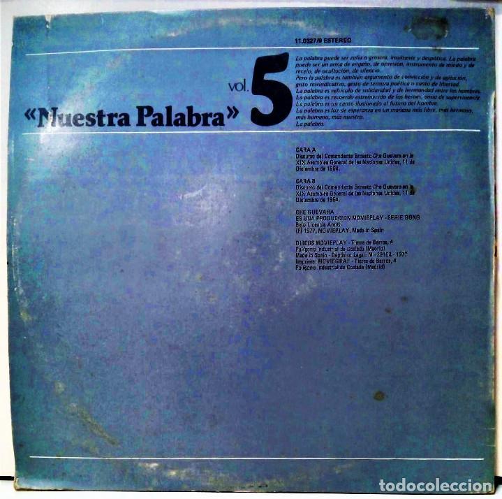 Discos de vinilo: CHE GUEVARA - DISCURSO ANTE LA ONU 1º PARTE - LP - ED ESPAÑOLA 1977 - Foto 2 - 126547523