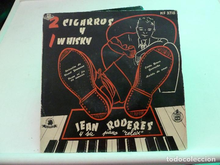 JEAN RODERES - 2 CIGARROS Y 1 WHISKY (Música - Discos de Vinilo - EPs - Country y Folk)