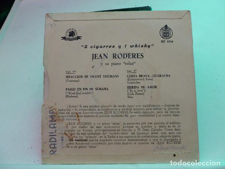 Discos de vinilo: JEAN RODERES - 2 CIGARROS Y 1 WHISKY - Foto 2 - 126549367