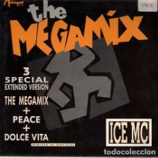 Discos de vinil: ICE MC – THE MEGAMIX - SINGLE SIDED PROMO SPAIN 1990. Lote 126549951