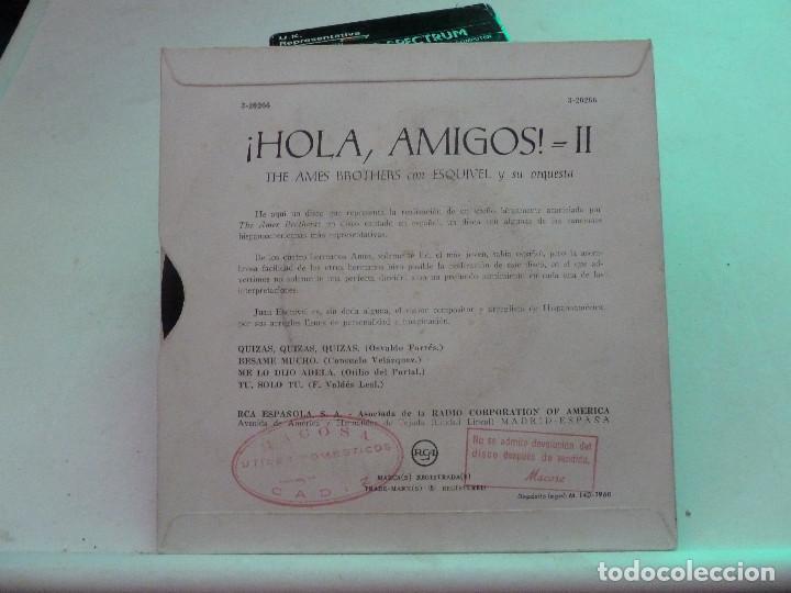 Discos de vinilo: THE AMES BROTHERS CON ESQUIVEL Y SU ORQUESTA - HOMA AMIGOS II - Foto 2 - 126558887