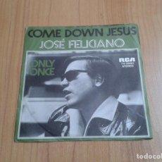 Discos de vinilo: JOSÉ FELICIANO -- COME DOWN JESUS, ONLY ONCE -- EDICIÓN ALEMANA -- RCA. Lote 126561963