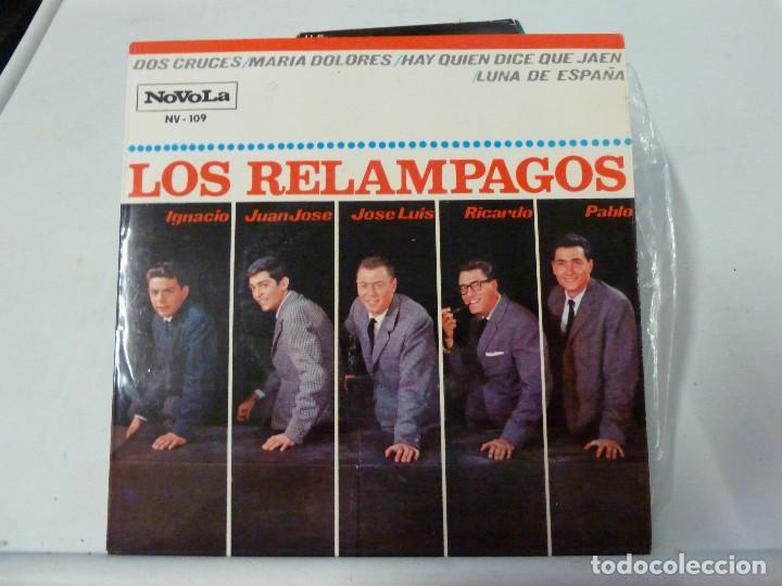LOS RELAMPAGOS - DOS CRUCES (Música - Discos de Vinilo - EPs - Grupos Españoles 50 y 60)