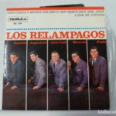Discos de vinilo: LOS RELAMPAGOS - DOS CRUCES. Lote 126565723