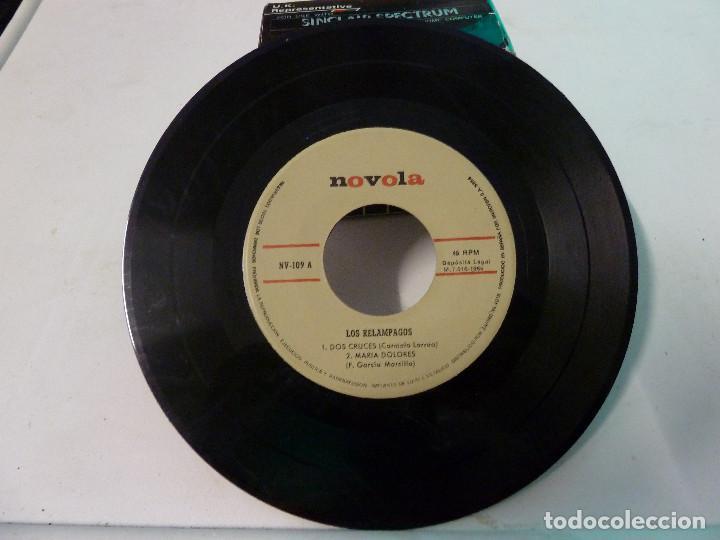 Discos de vinilo: LOS RELAMPAGOS - DOS CRUCES - Foto 4 - 126565723