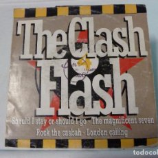 Discos de vinilo: THE CLASH FLASH MEDLEY - SHOULD STAY OR SHOULD I GO - CBS - SONY. Lote 126569879