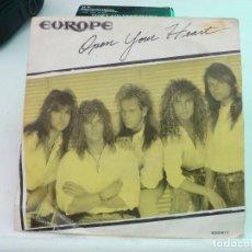 Discos de vinilo: EUROPE - OPEN YOUR HEART - THE FINAL COUNTDOWN 2 SINGLES. Lote 126575475