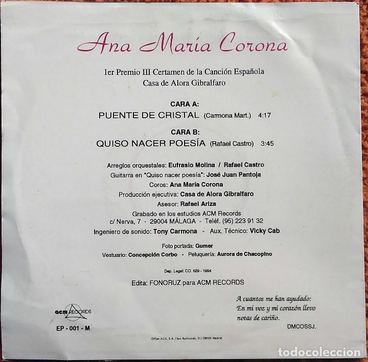 Discos de vinilo: Vinilo EP Ana Maria Carona, Un Clasico, 1994 - Foto 2 - 126584223