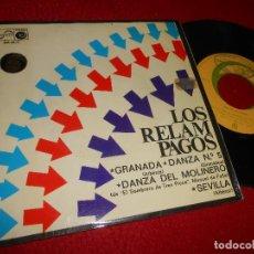 Discos de vinilo: LOS RELAMPAGOS GRANADA/DANZA Nº5/DANZA DEL MOLINERO/SEVILLA 7'' EP 1968 ZAFIRO. Lote 126600691