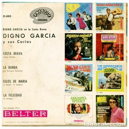 Discos de vinilo: Digno Garcia Y Sus Carios – Digno Garcia En La Costa Brava (ed.: España, 1968) - Foto 2 - 126601339