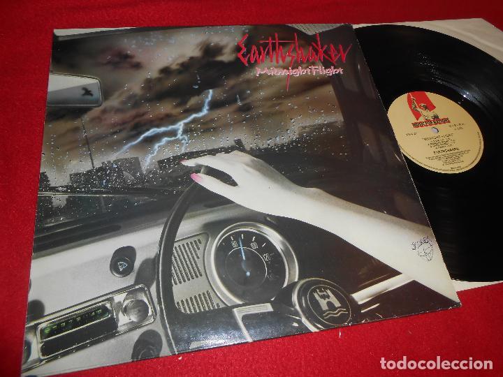 EARTHSHAKER MIDNIGHT FLIGHT LP 1984 MUSIC FOR NATIONS FRANCE (Música - Discos - LP Vinilo - Heavy - Metal)