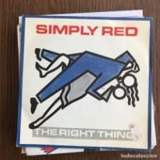 Vinyl records - SIMPLY RED - THE RIGHT THING - SINGLE WEA 1987 - 126621859